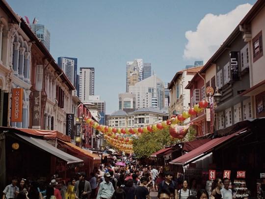Les rues animées de Chinatown