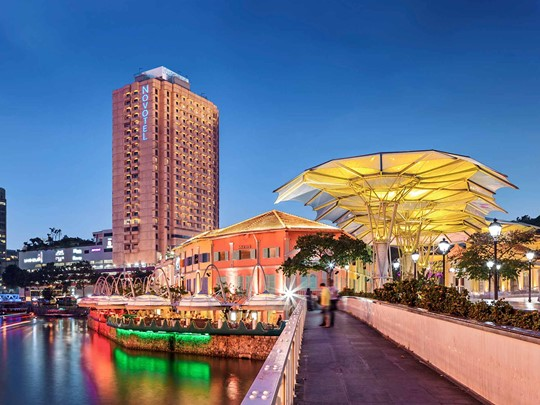 Vue de l'hôtel Novotel Clarke Quay Singapore