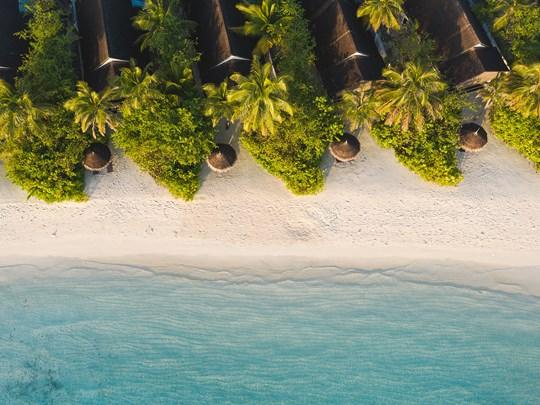Les Earth Villas, posées sur la plage