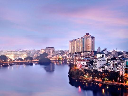 Vue de l'hôtel Sofitel Plaza Hanoi situé au Vietnam