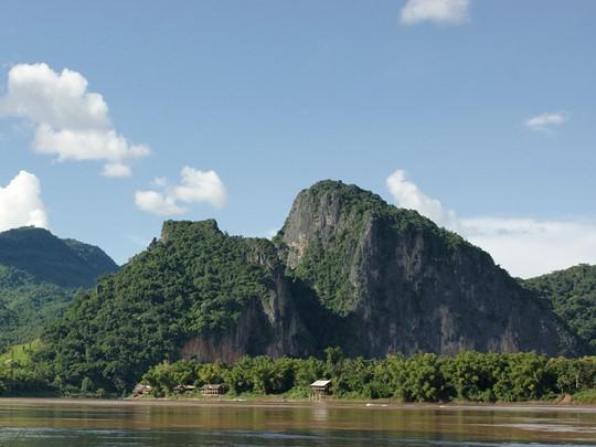 Vue de la rivière Mékong en Thailande