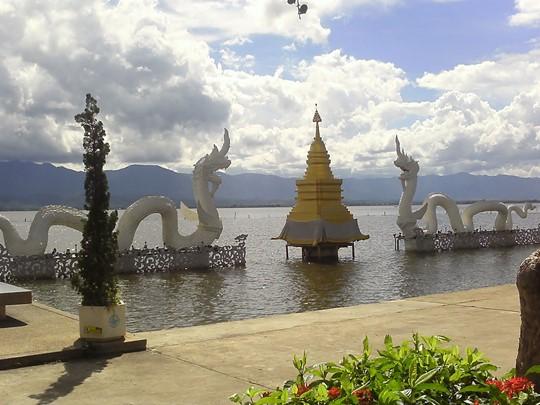 Vue du lac de Phayao