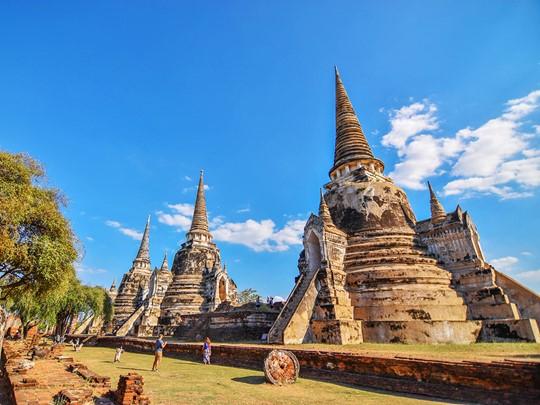 Ayutthaya , les vestiges de l'ancienne capitale détruite par les Birmans