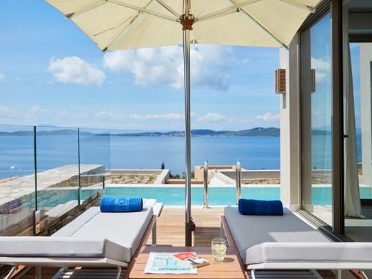 Vue depuis la Ocean One Bedroom Villa