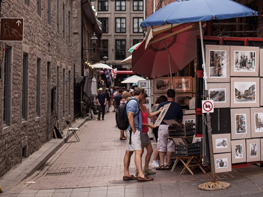 Baladez-vous dans les rues du Vieux-Montréal