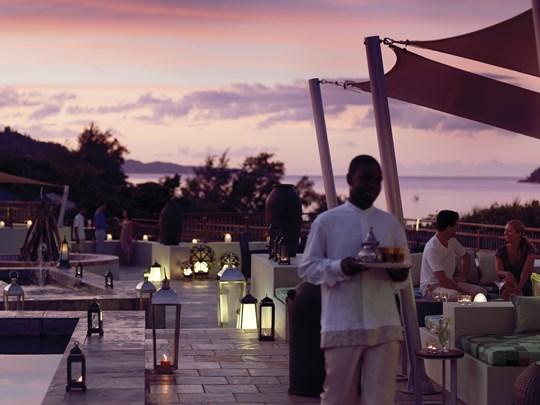 Takamaka Terrace & Lounge de l'hôtel Raffles Praslin