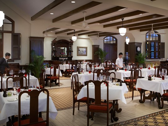 Restaurant Long Bar de l'hôtel Raffles Singapore