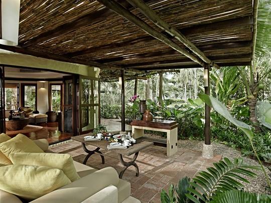 La terrasse de la Terrace Pavilion