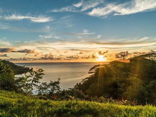 Contemplez un magnifique lever de soleil depuis Raiatea.