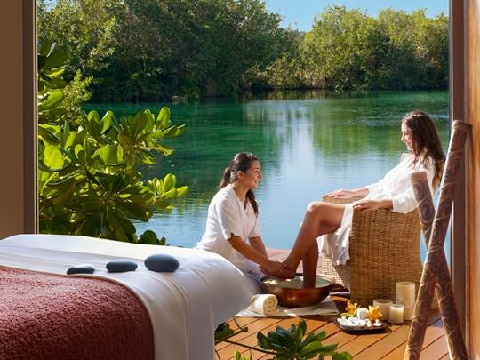 Spa de l'hôtel 5 étoiles Rosewood Mayakoba au Mexique