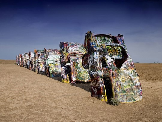 Le cadillac ranch d'Amarillo