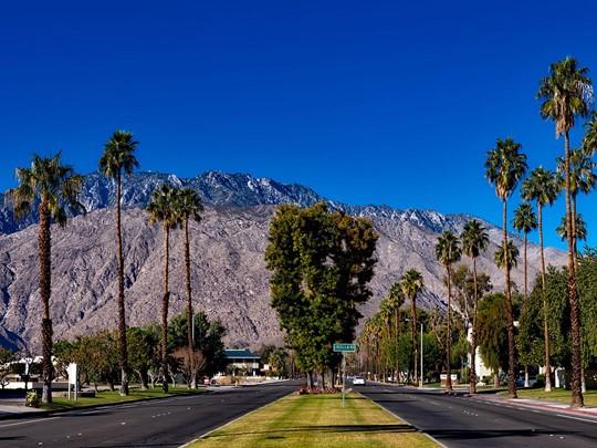 Le périple touche à sa fin en voyant les palmiers de Palm Springs