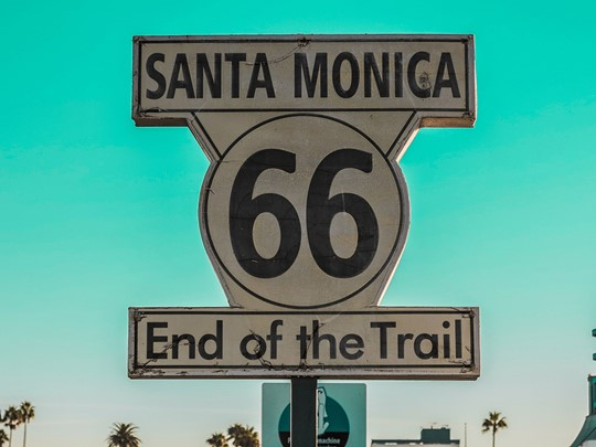 La fin de la route 66 à Santa Monica
