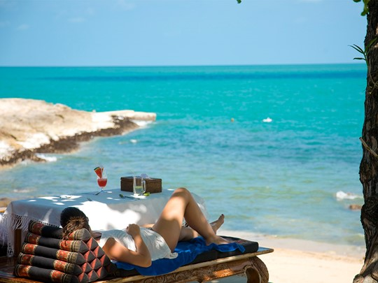 La plage de Aothong de l'hôtel Santhiya Resort & Spa