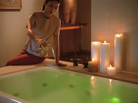 Le bain à remous du spa
