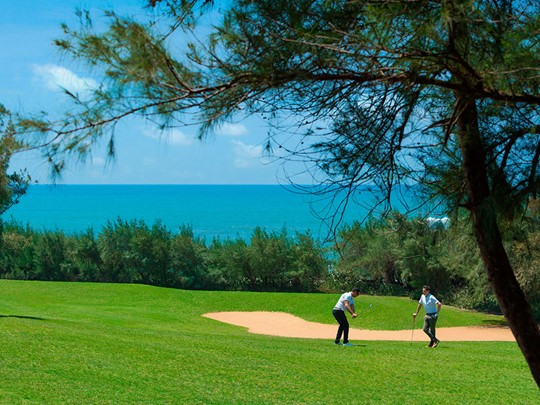 Golf au Shangri-La's Hambantota Resort au Sri Lanka