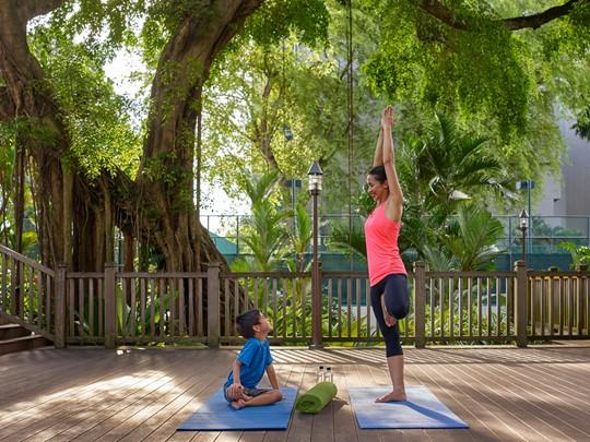 Yoga à l'hôtel Shangri-La Hotel Singapore