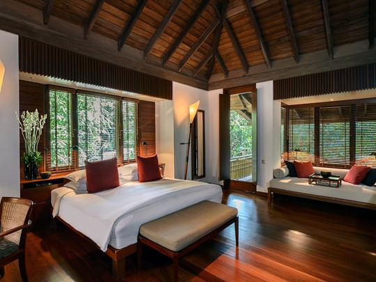 Les chambres luxueuses du Datai Langkawi