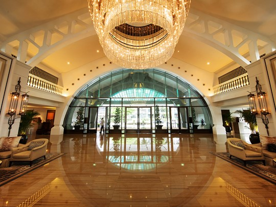 Le luxueux lobby du Fullerton Bay Singapour