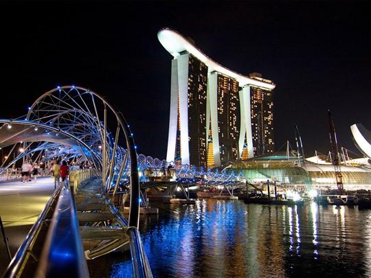 Marina Bay la nuit