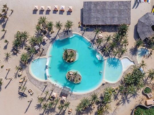 La seule piscine d'eau salée du golfe Persique