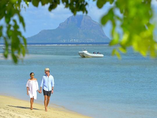 La superbe plage de Wolmar du Sofitel Mauritius