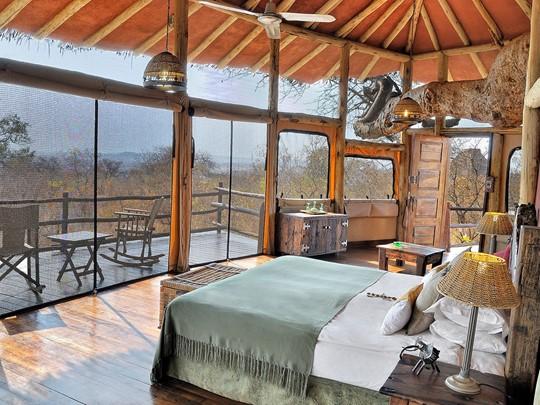 La chambre du Tarangire TreeTops