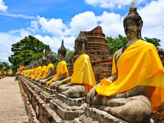Visite du Wat Yai Chai Mongkol d'Ayutthaya