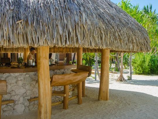 Le Bob's Bar de l'hôtel The Brando en Polynésie