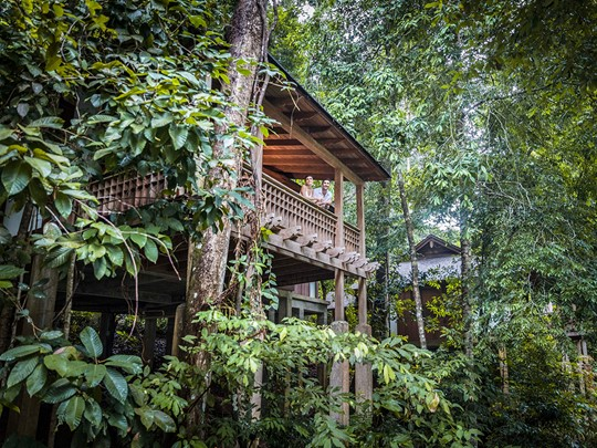 Vue extérieure de la Rainforest Villa du Datai Langkawi