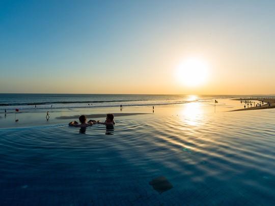 Autre piscine de l'hôtel The Legian à Bali