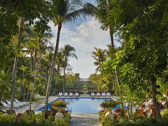 Les jardins de l'Ocean Club sont inspirés de Versailles