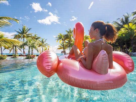 Relaxez-vous dans la piscine