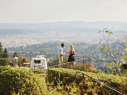 Le superbe environnement du Belmond Villa San Michel