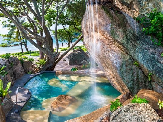 Le bassin secret du Vana Belle à Koh Samui