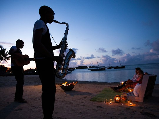 Soirée romantique sur la plage