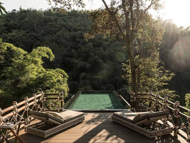 Votre terrasse privée face à la jungle