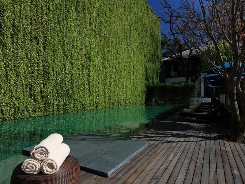 Autre vue de la piscine du 137 Pillars House au Vietnam