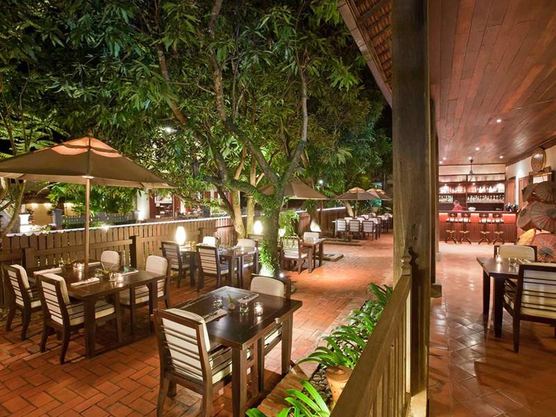 Autre vue du restaurant de l'hôtel 3 Nagas à Luang Prabang