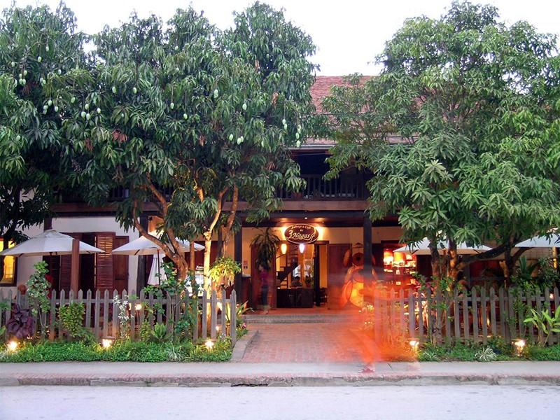 L'entrée de l'hôtel 3 Nagas à Luang Prabang