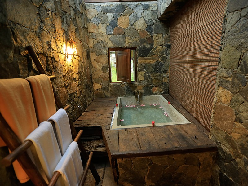 Salle de bain de la chambre Honeymoon Deluxe