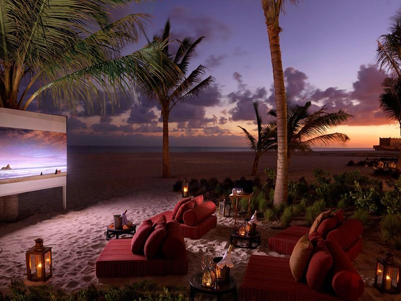 Le cinéma en plein air de l'Al Baleed Resort à Salalah