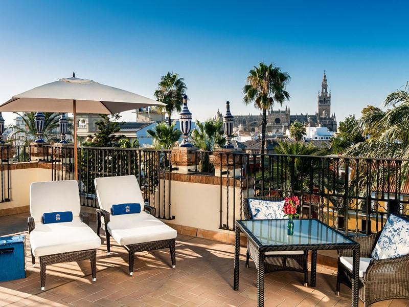 Superbe vue sur la capitale de l'Andalousie