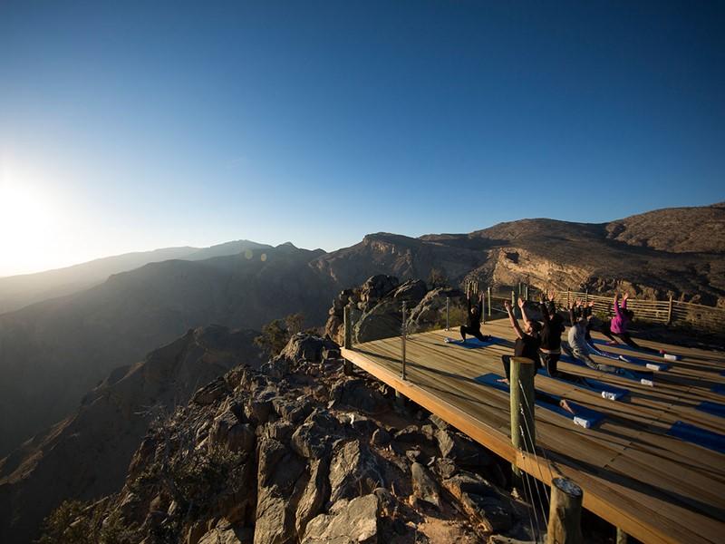 Yoga à l'hôtel Alila Jabal Akhdar situé à Nizwa
