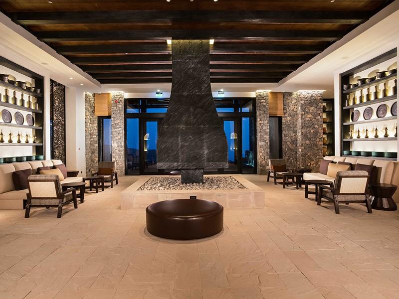 Le lobby de l'hôtel Alila Jabal Akhdar à Oman