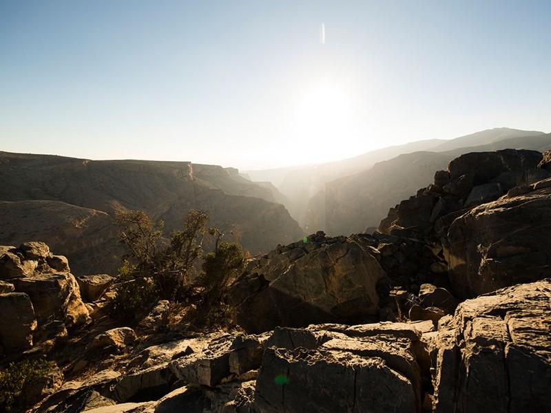 Vue de la région de Jabal Akhdar