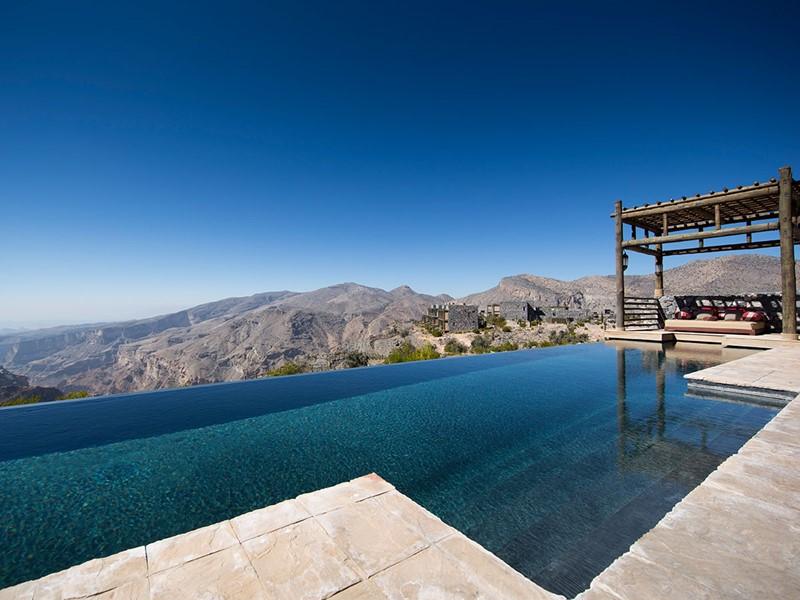 Profitez des splendides piscines des villas de l'Alila Jabal Akhdar