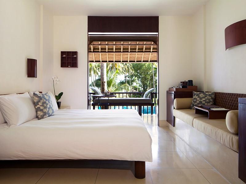 Chambre Deluxe de l'Alila Manggis à Bali