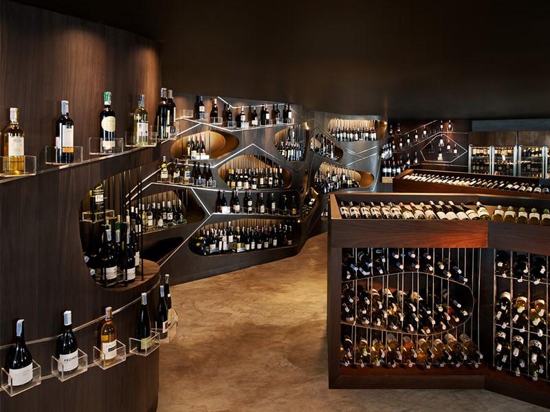 La cave à vin de l'hôtel Aloft Bangkok en Thailande