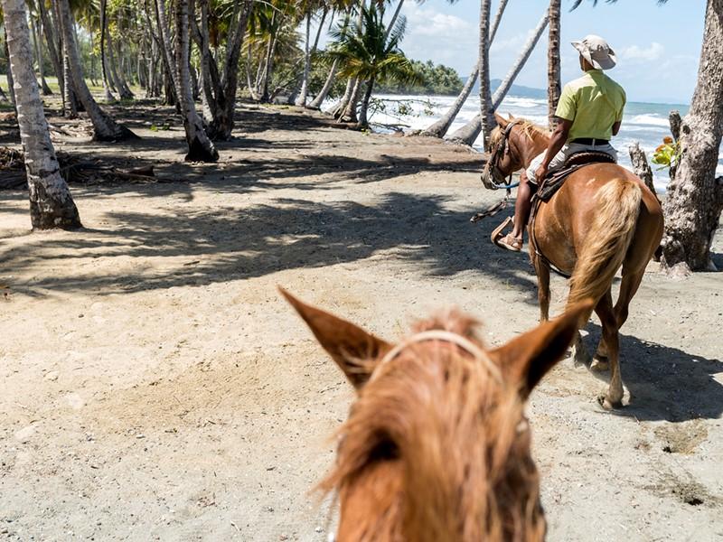 Balade à dos de cheval sur la plage de l'Amanera